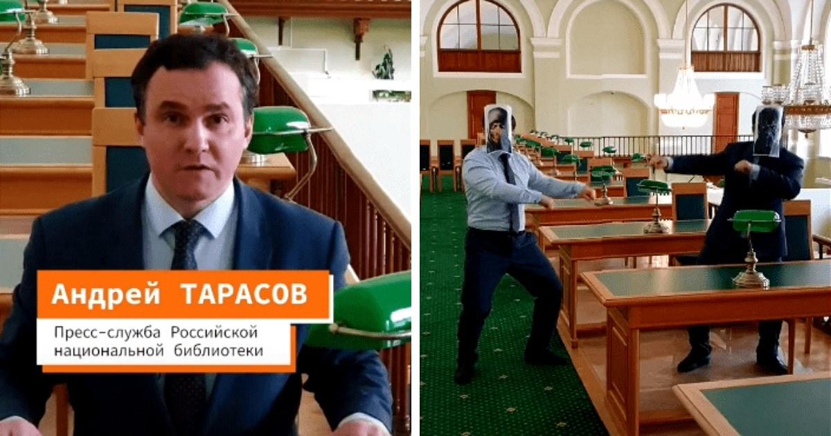В Петербурге читатели подрались из-за стола в библиотеке. Сотрудники сняли об этом видео в стиле Мортал Комбат