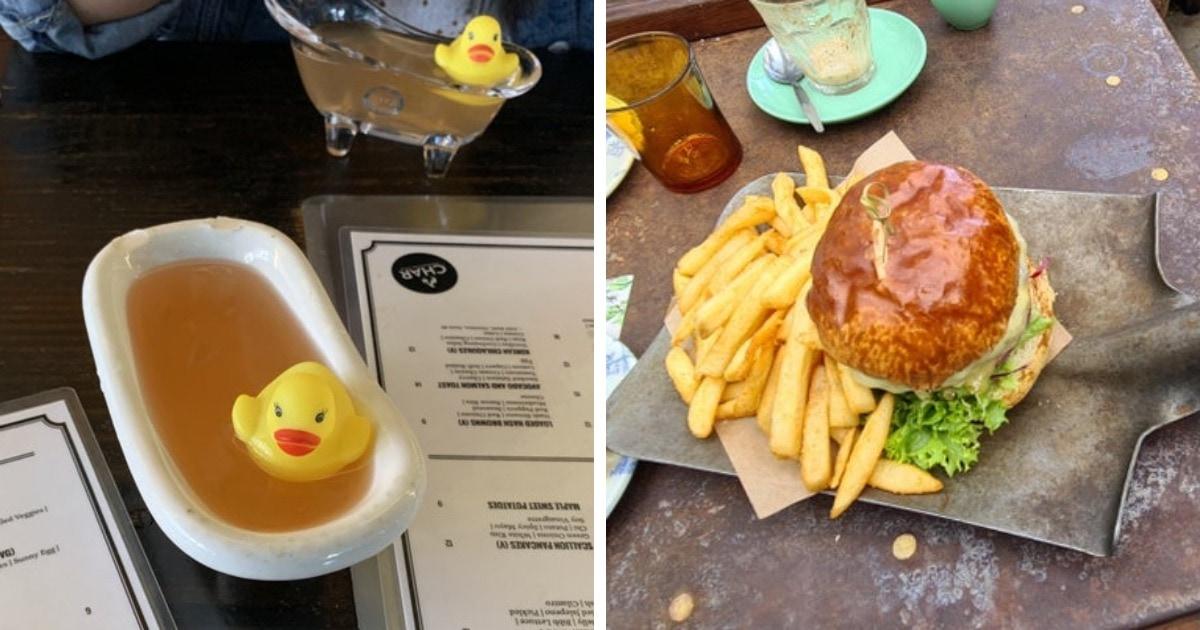 17 ресторанов, которые готовы подавать блюда на подушках, ветках и даже лопатах, но только не на тарелке