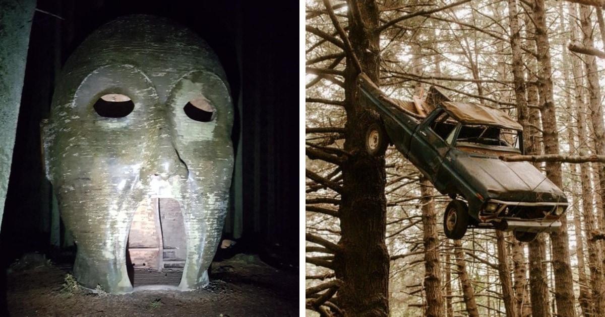 18 случаев, когда люди находили в лесу внезапные и даже несколько пугающие вещи