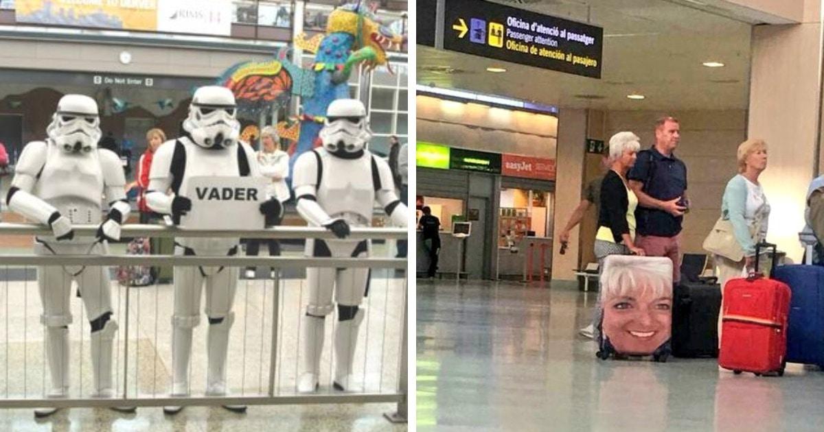 16 фото, которые показывают, что приключения начинаются уже в аэропорту, ведь там вас ждёт куча забавных странностей