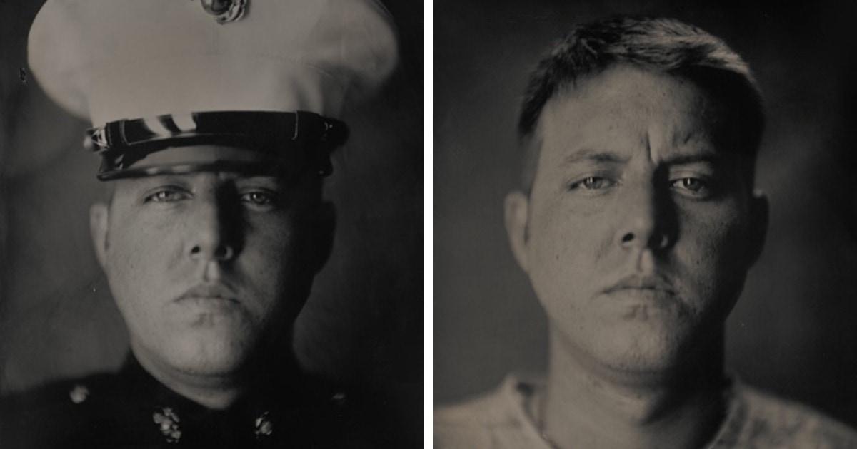 «Война и мир»: 15 портретов от фотографа из США, показывающих разницу между человеком на войне и на гражданке