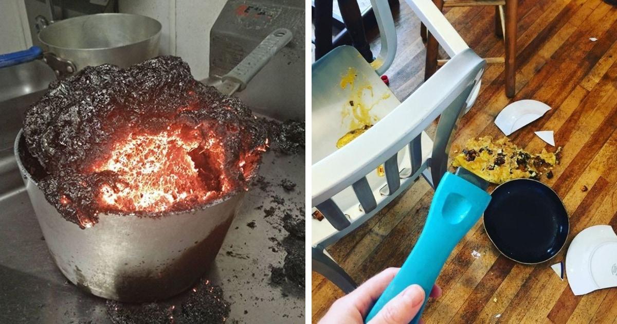 15 случаев, когда попытка приготовить что-то вкусное заканчивалась настоящей кулинарной катастрофой