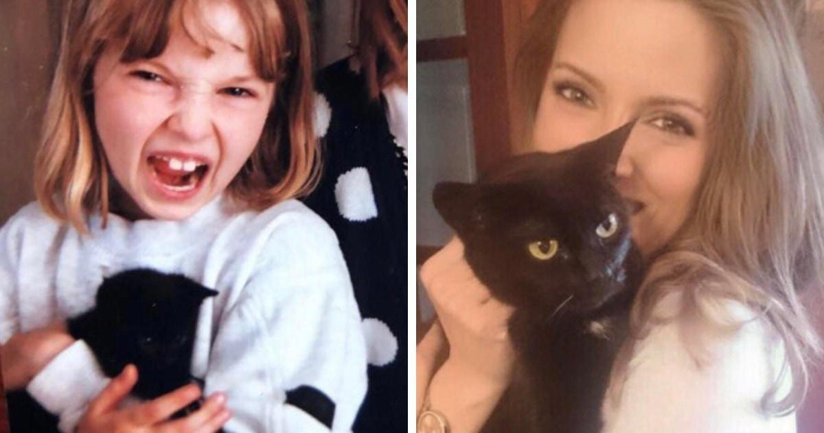 15 милых и трогательных фото о том, что дружбу с котиками и собаками можно пронести сквозь года