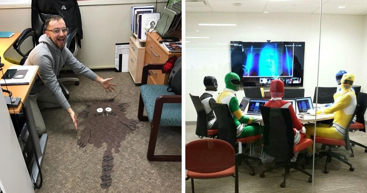16 забавных фото, которые подтверждают, что иногда в офисе можно ещё как повеселиться и разыграть коллег