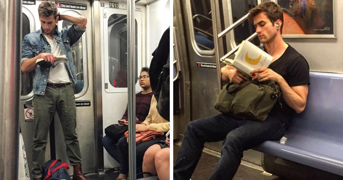 Девушка тайно фотографирует читающих красавчиков, и горячими можно назвать не только снимки, но и их описание