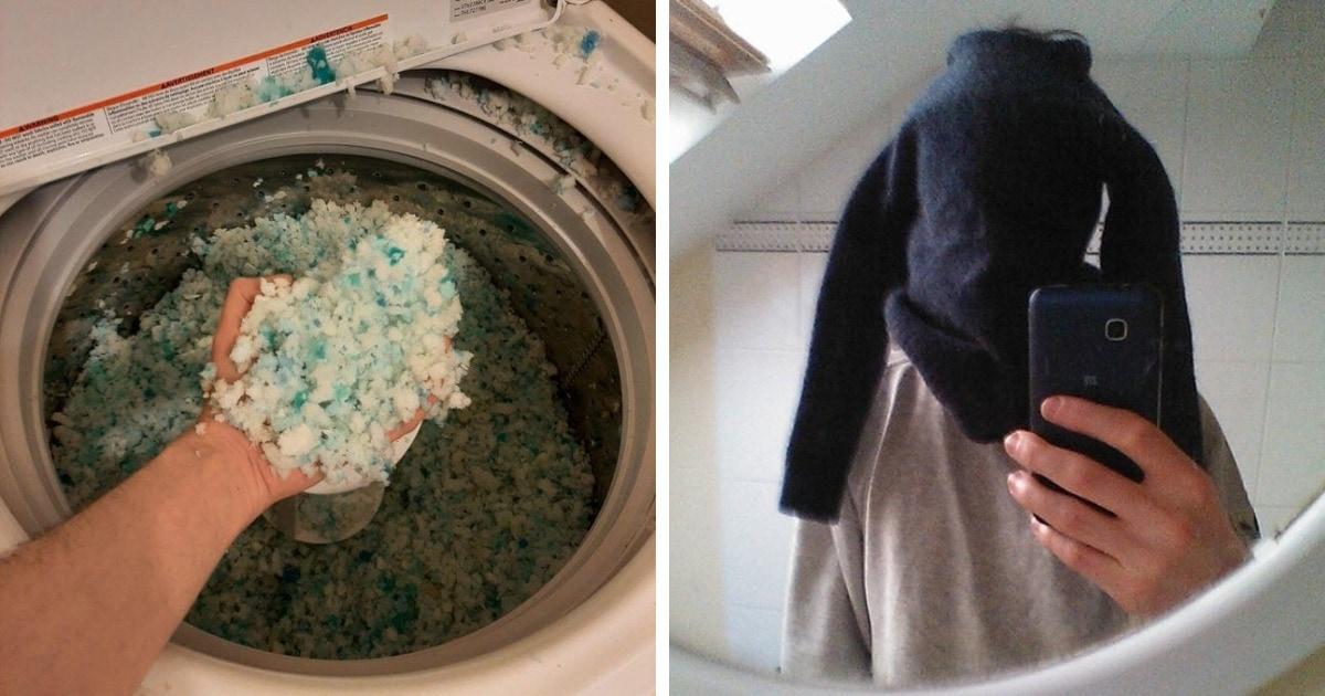 16 провальных ситуаций, когда люди после стирки получали не чистые вещи, а какое-то недоразумение