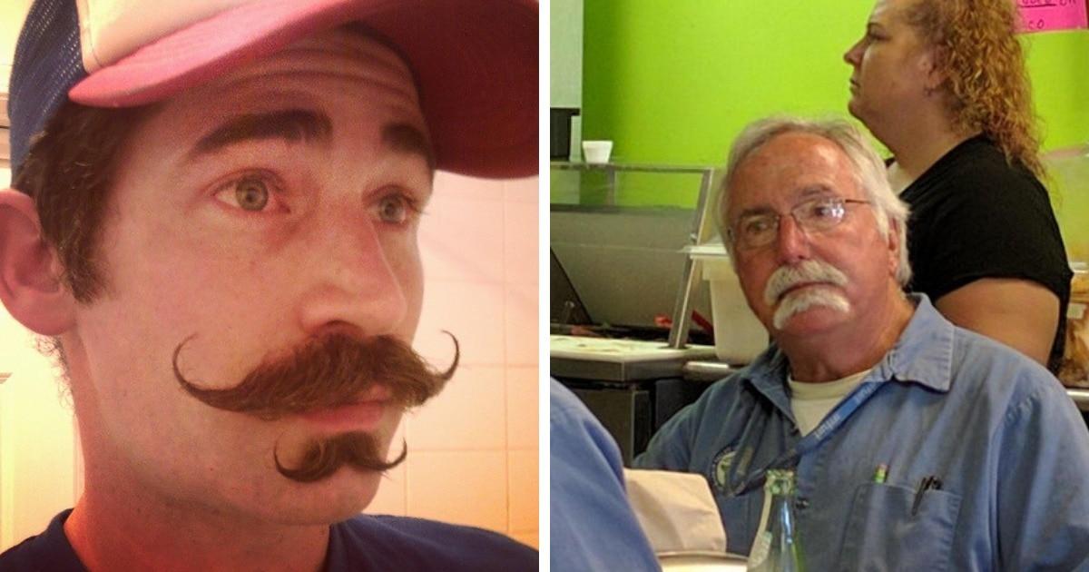 16 уморительных снимков мужчин, которые вдруг решили, что тренд «двойные усы» — отличная идея