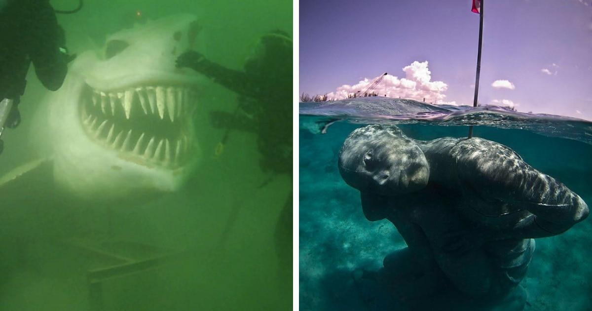 17 фотографий подводных объектов, которые способны любого напугать до чёртиков