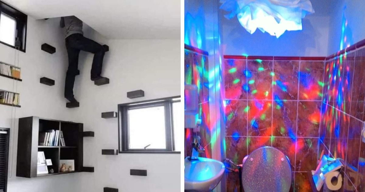 16 странных и немного безумных интерьеров, которые ярко демонстрируют фантазию своих владельцев