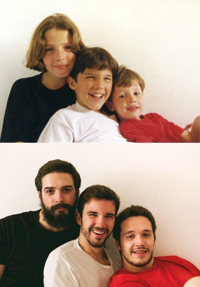 16 случаев, когда люди так смешно и умело воссоздали свои детские фото, что с них срочно хочется взять пример