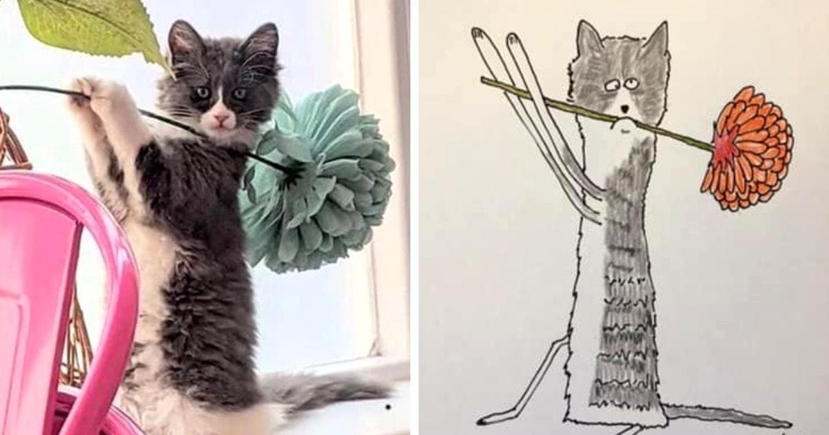 20 работ художника, который рисует как придётся, и результат получается смешнее некуда