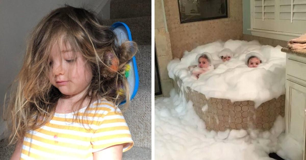 16 фото, которые доказывают, что дети никогда не дадут заскучать, а заодно научат невероятному терпению