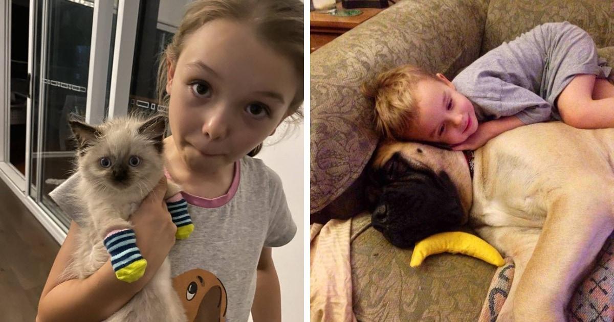 16 снимков о трепетных отношениях между детьми и животными, которые наглядно иллюстрируют понятие «дружба»