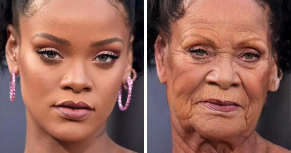 Блогер показал, какими станут знаменитости через 40 лет, если они будут стареть как обычные люди