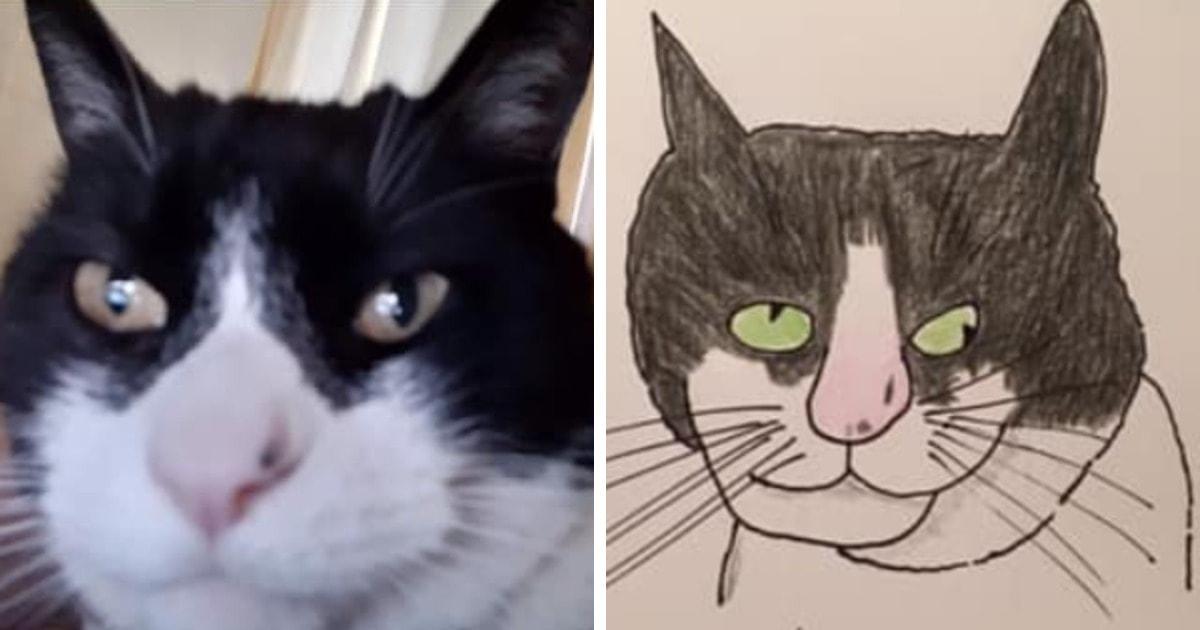 19 работ художника, который рисует животных так плохо, что получаются шедевры