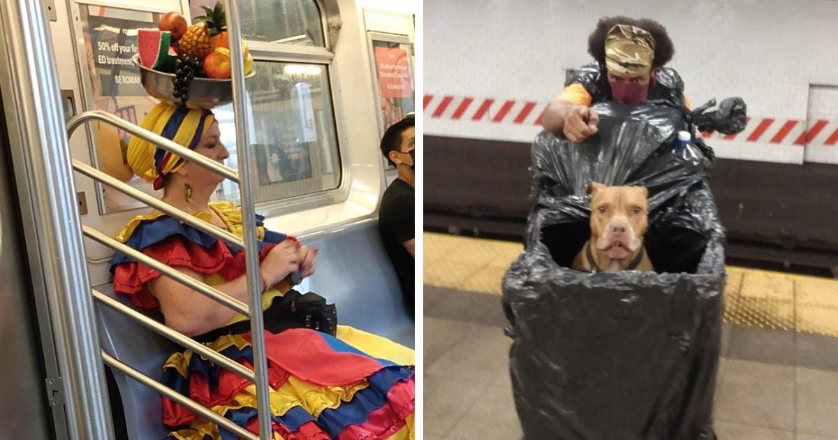 18 снимков из метро, которые доказывают, что это место наполнено причудливыми и забавными пассажирами