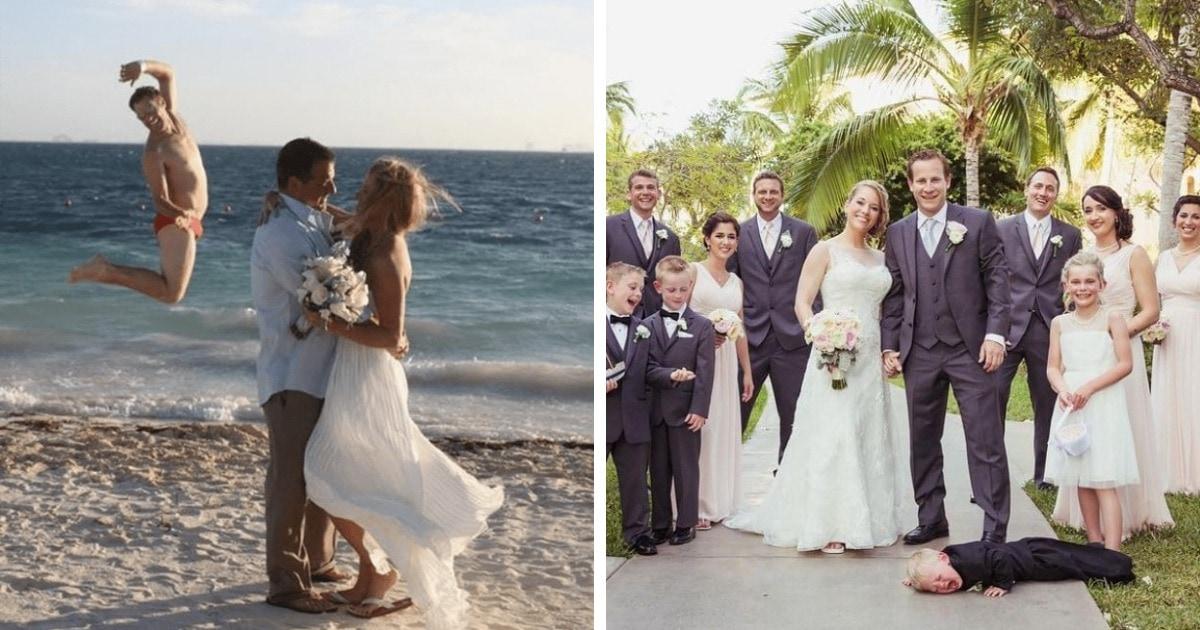 16 забавных и нелепых свадебных фото, которые наверняка стали главным украшением семейного альбома