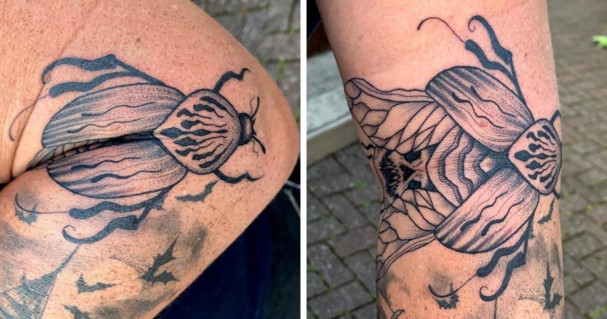 15 татуировок, которые были придуманы так, чтобы казаться обычными. Пока человек не согнёт руку или ногу